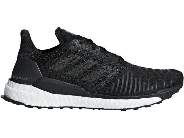 sleek good out x many fashionable adidas SolarBoost Running Shoes Men core black/grey four/white